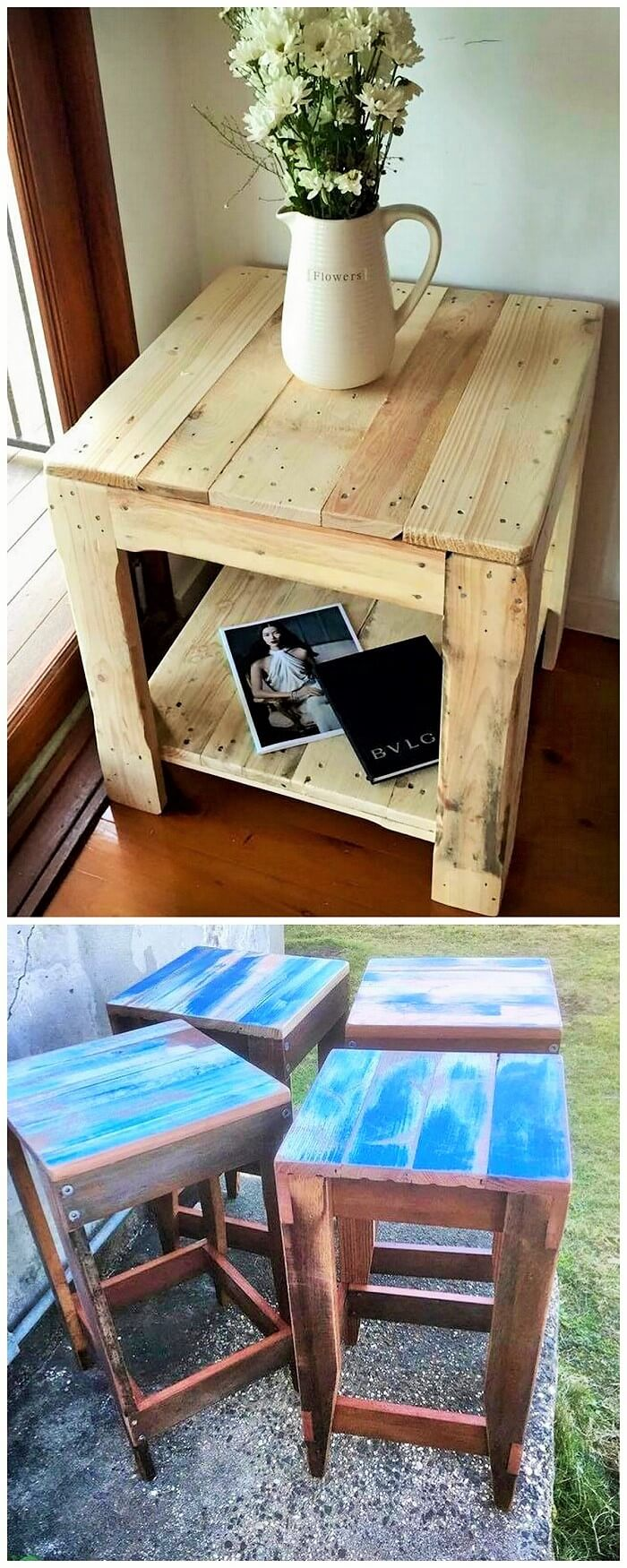 Wooden Pallets Small Table Ideas (2)