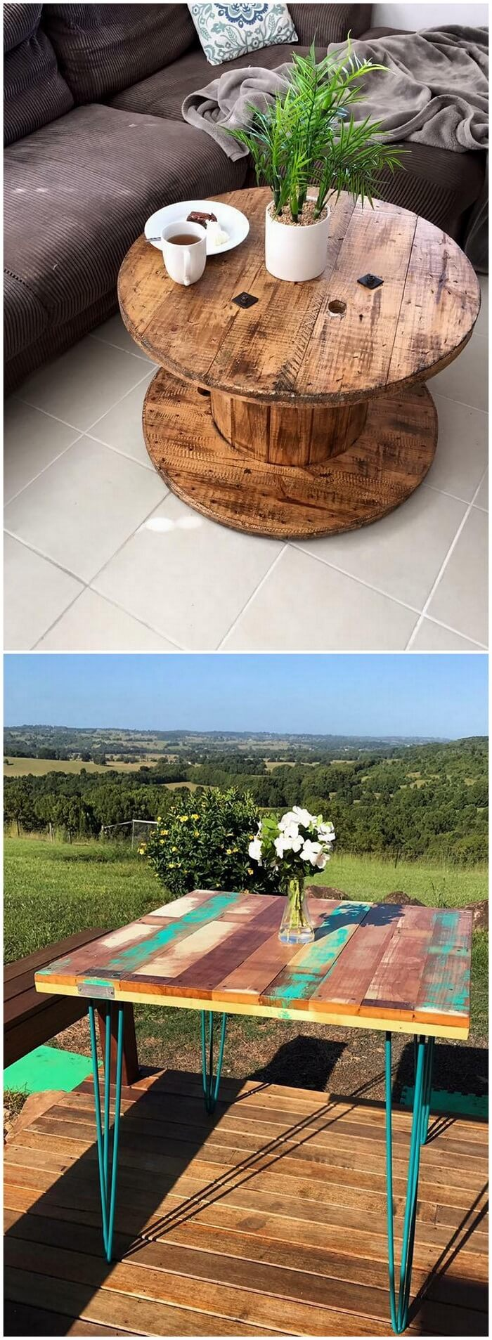 Wooden Pallets Table Ideas (2)