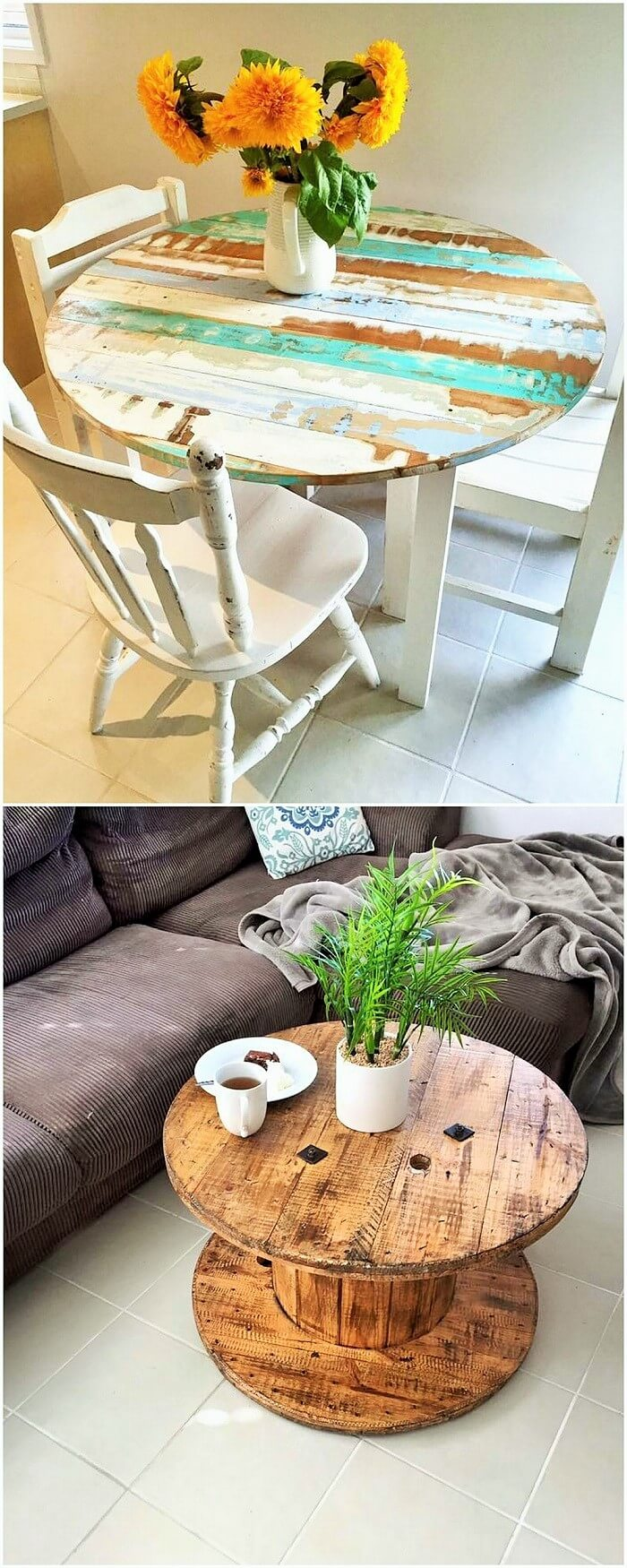 Wooden Pallets Table Ideas (4)