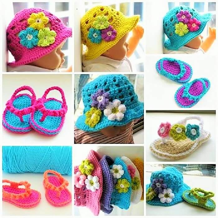 crochet-flip-flop-and-hat-set (2