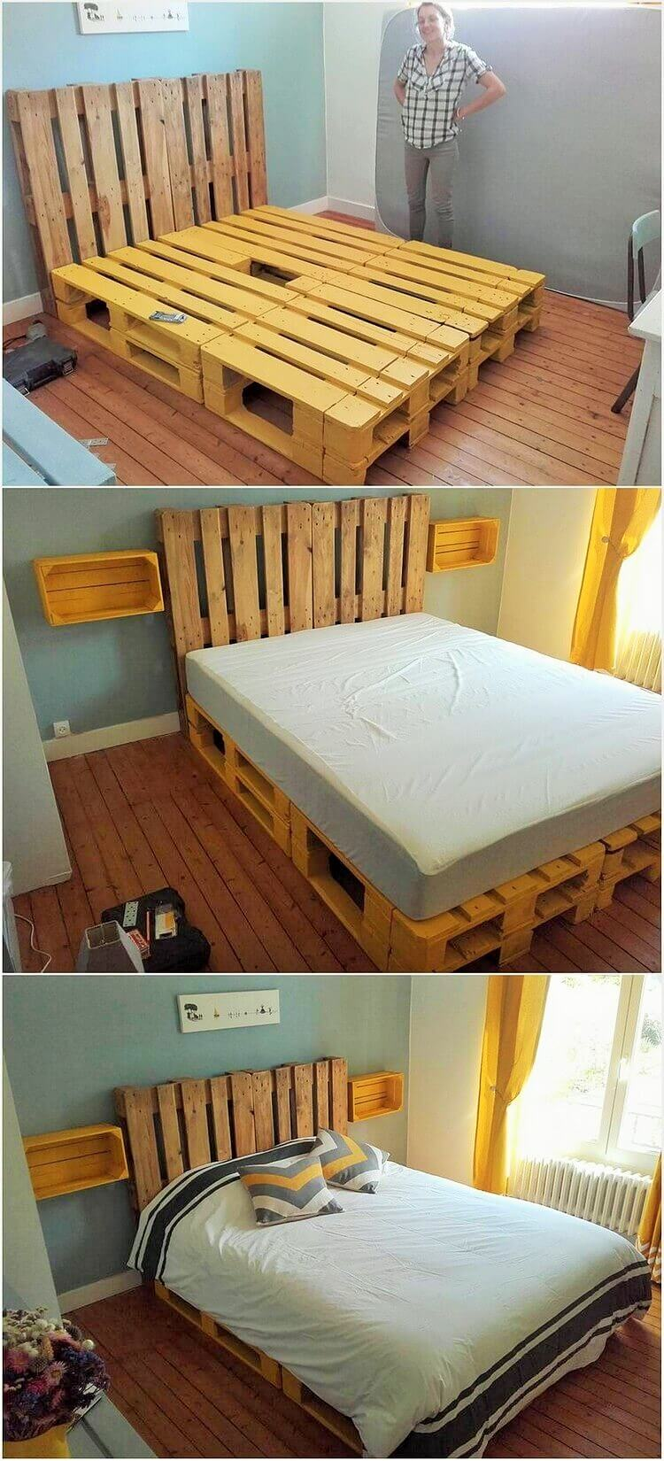 DIY-Wooden-Pallet-Bed-Ideas (2)