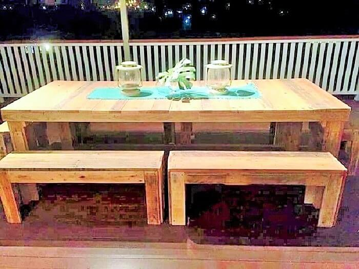 Wooden-Pallet-dining-table-and-bench-Ideas (2)