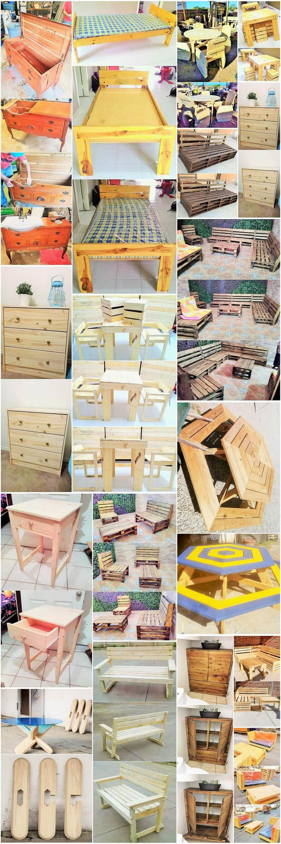 Old pallet recyclable furniture
