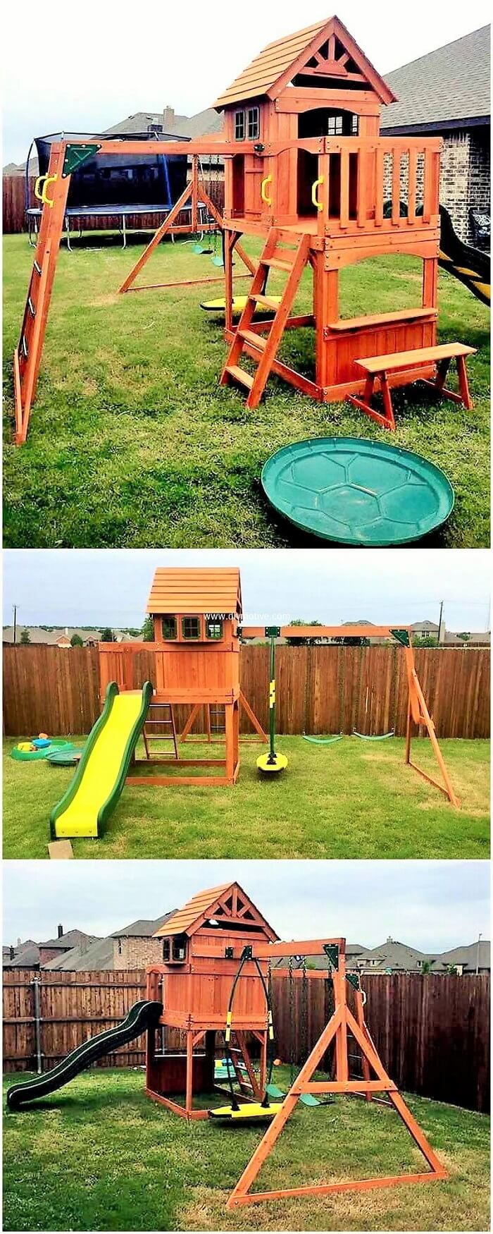 DIY-Wooden-palles-kids-playhouse-project