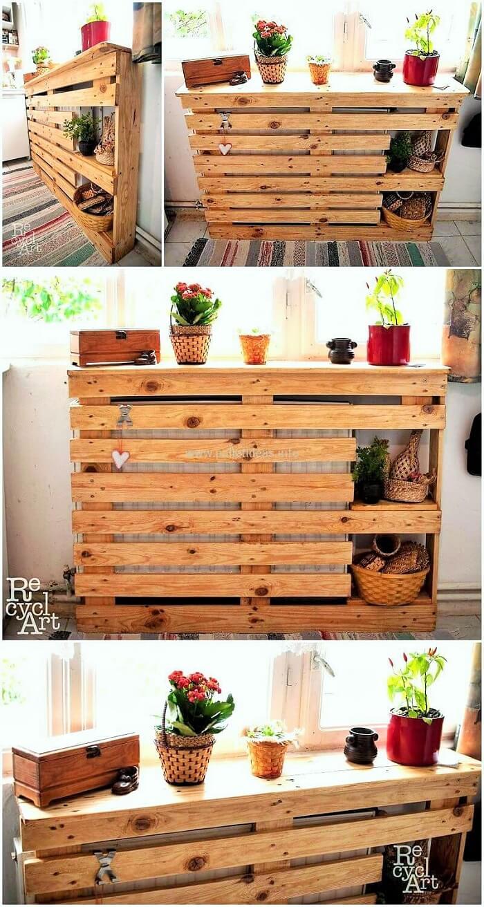 DIY-Wooden-pallet-kitchen-wall-table-idea