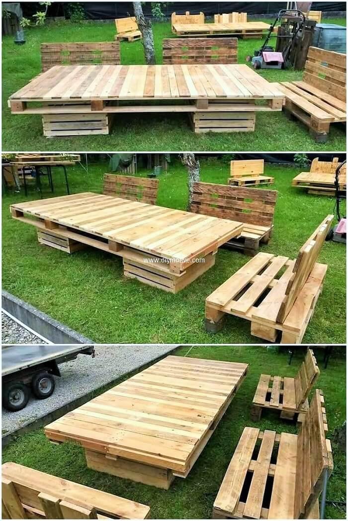 DIY-wood-pallet-garden-furniture-set
