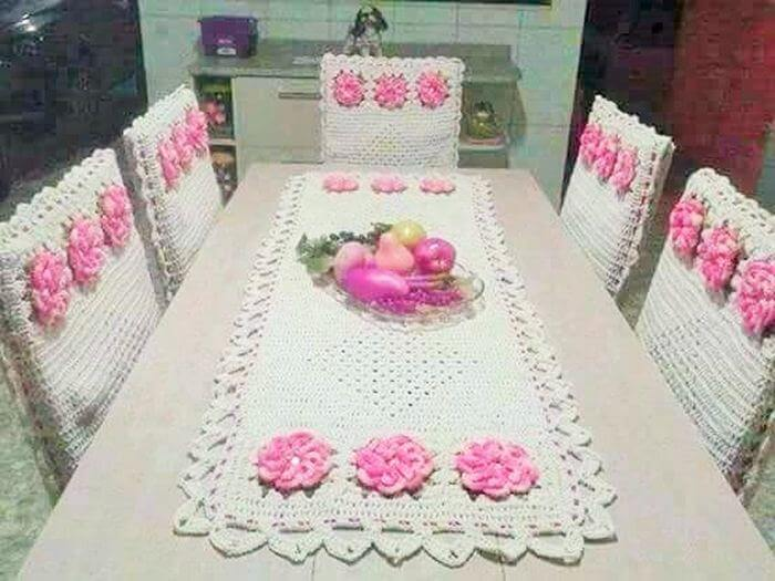 Diy Crochet Homemade Dining Table And Chair Cover 2