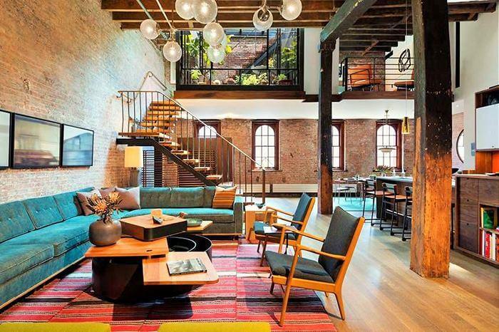 Home Decor Colorful living room idea-1