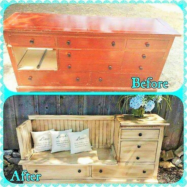Recyle woodworking Banch