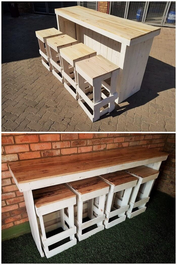 Sylish pallets dining table and branch-01