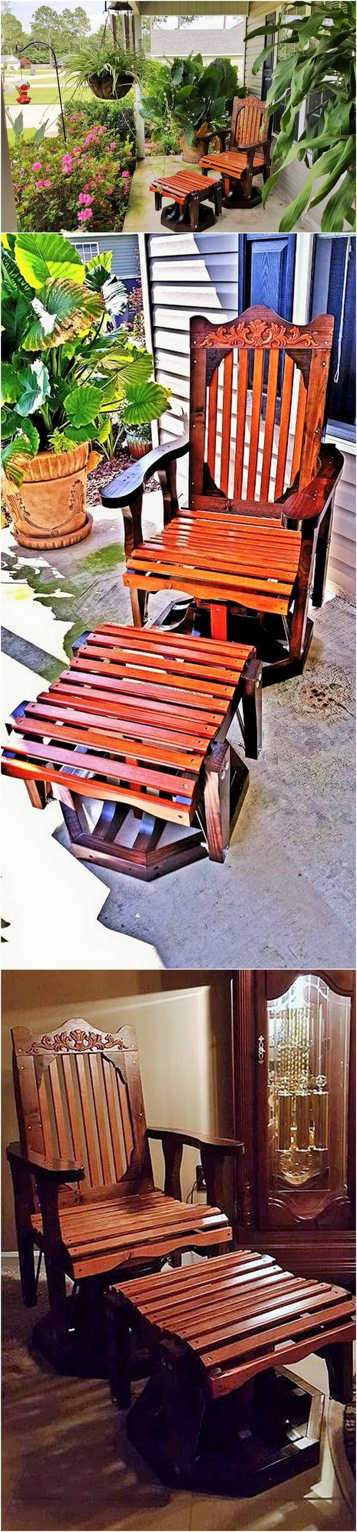 Wood working Garden chair table set