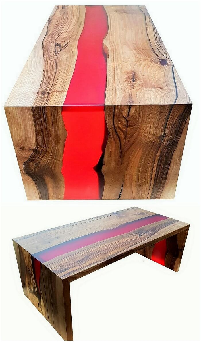 Wood working larg marir table