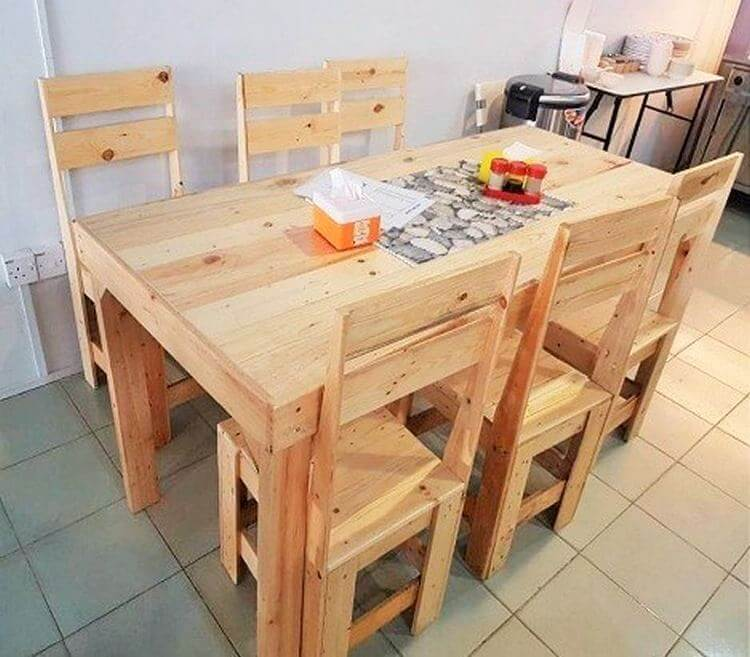 diy-wooden-pallet-small-dining-table -set-02