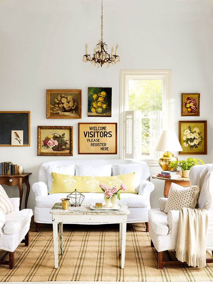living room decoritiom with wall art
