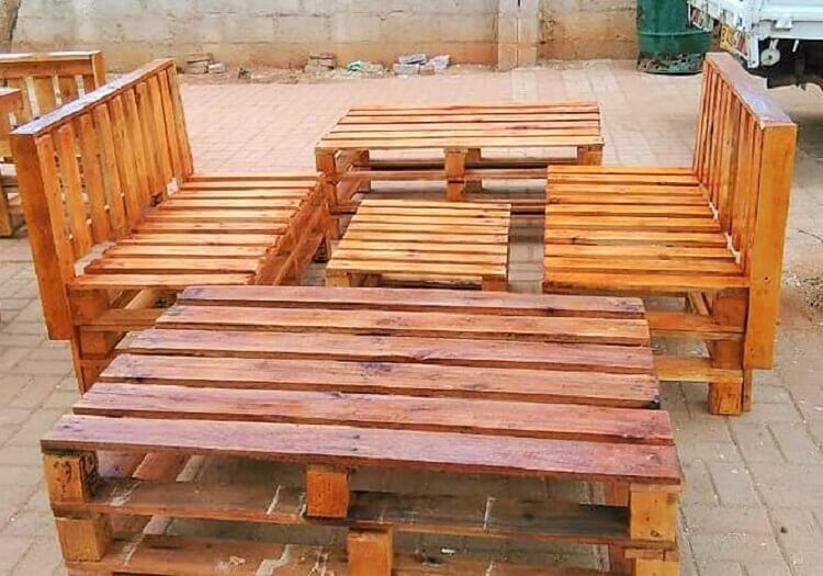 out side wooden pallets and coffee table-11