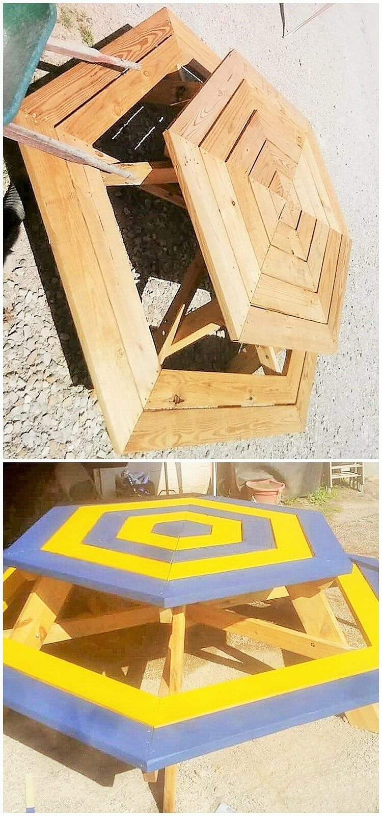 pallet round dining table