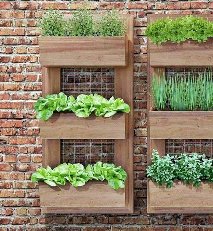small wall pallet planter garden