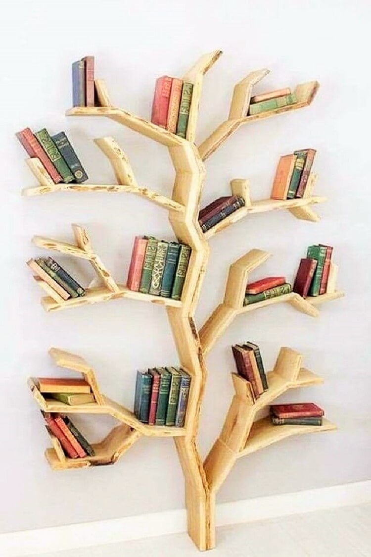 wooden bookkace