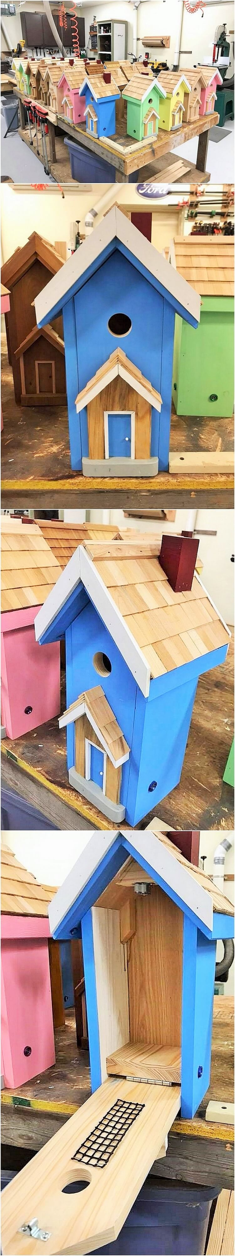 wooden brid house
