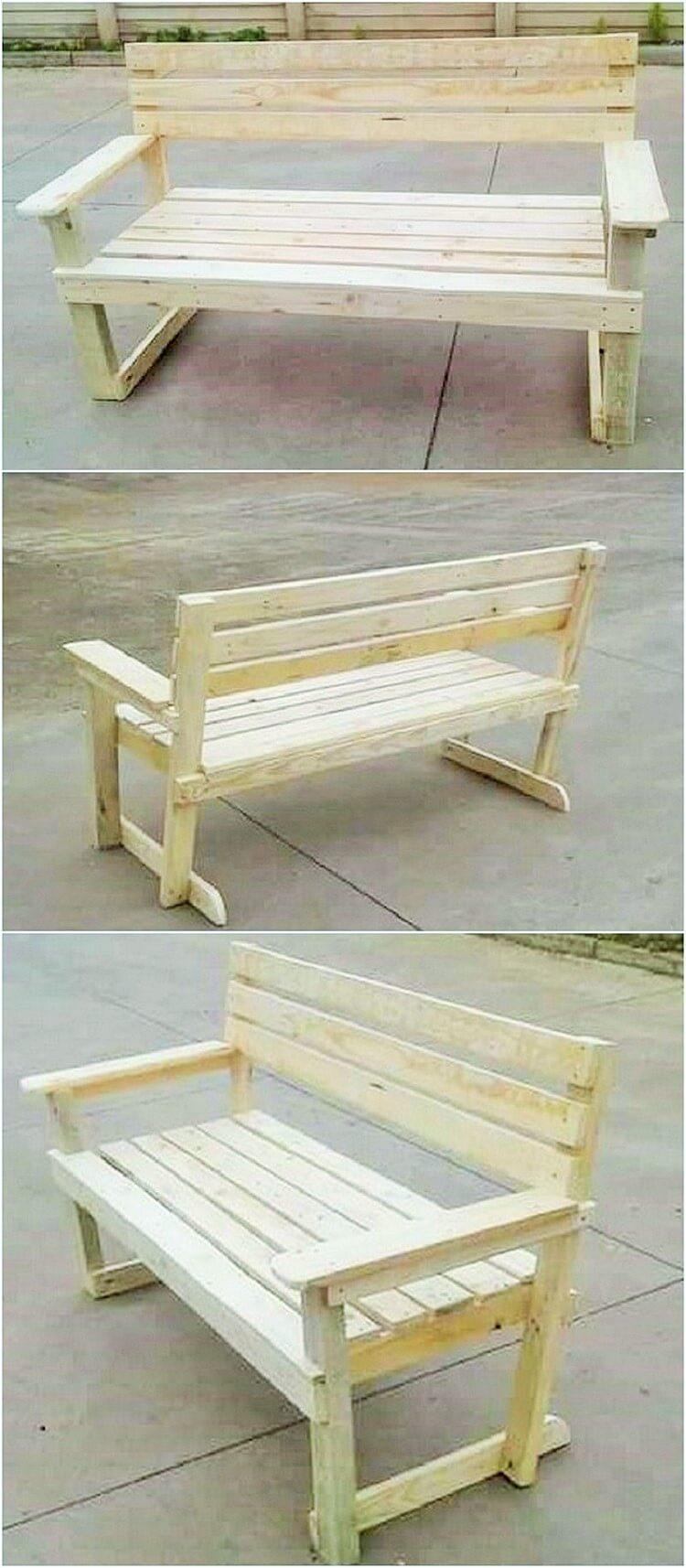 wooden pallet banch