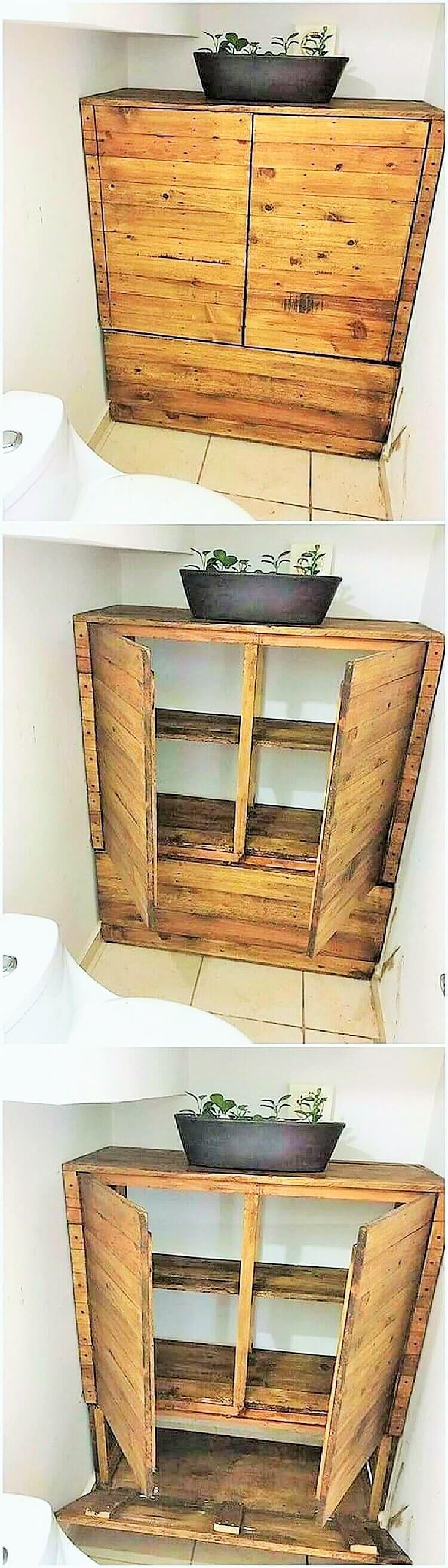 wooden pallet washroom table
