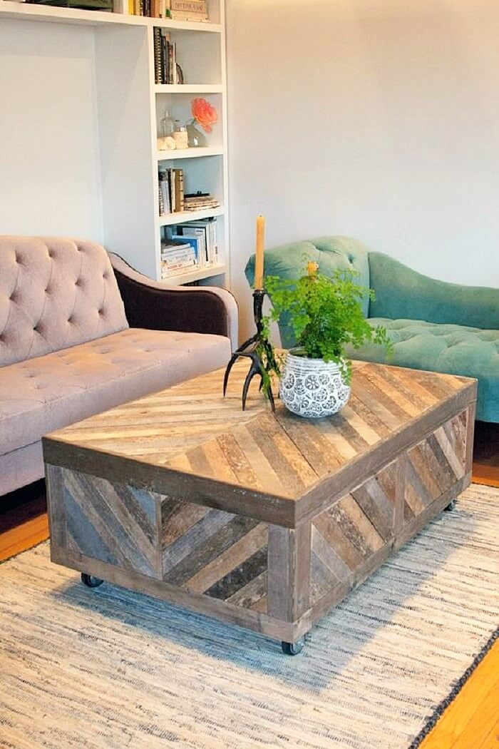 wooden-pallets- living-room-table
