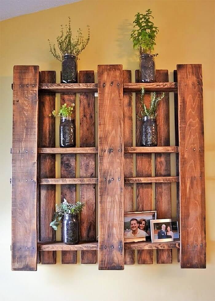 wooden pallets wall planter ideas