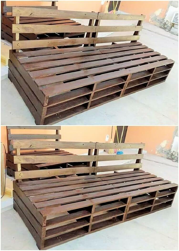 woodenpallet banch