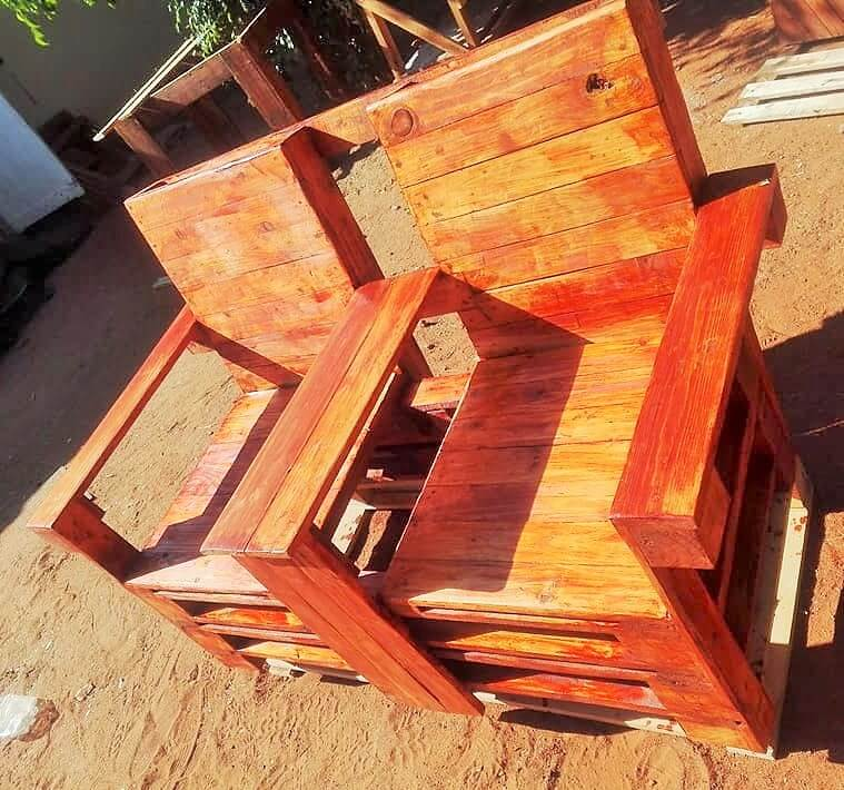 woodenpallet chair