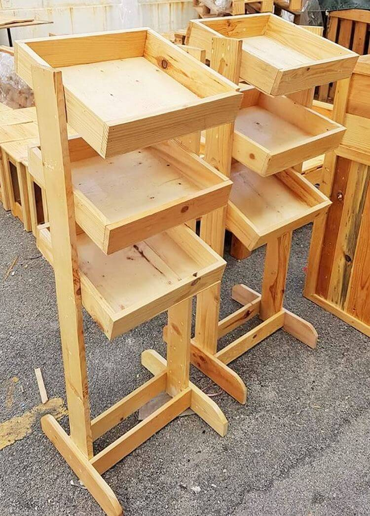 woodenpallet kichan stand