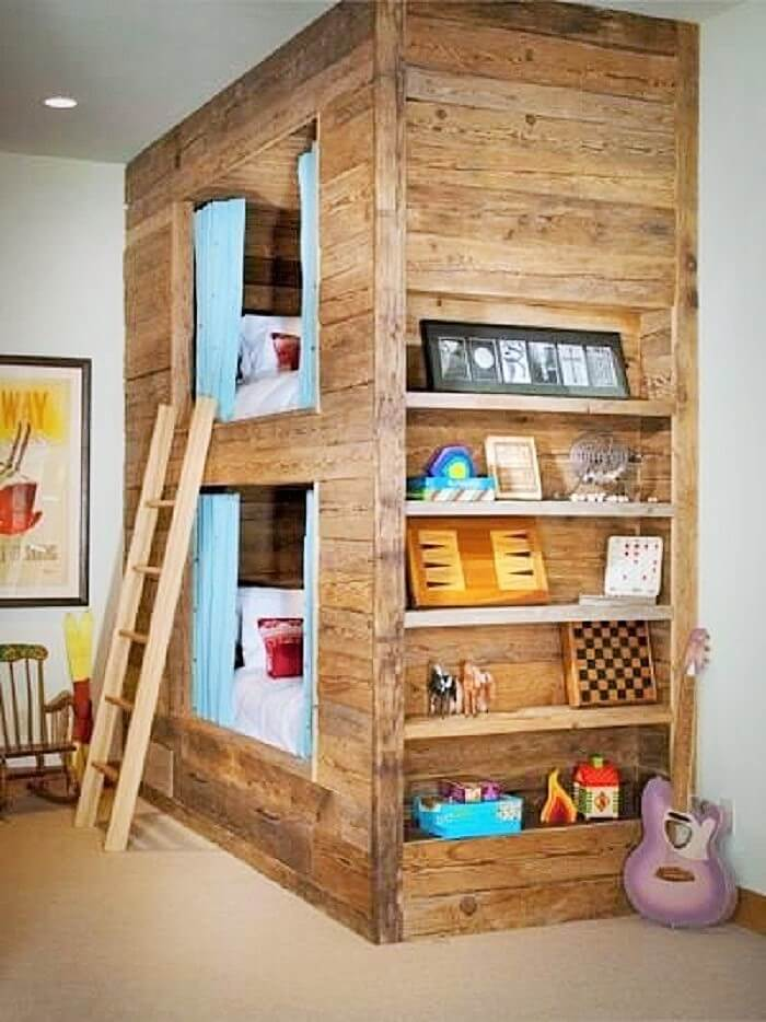 woodenpallet kids bed room and save