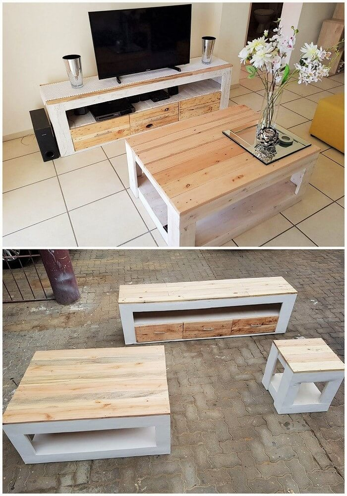 woodenpallets TV Stand and Table