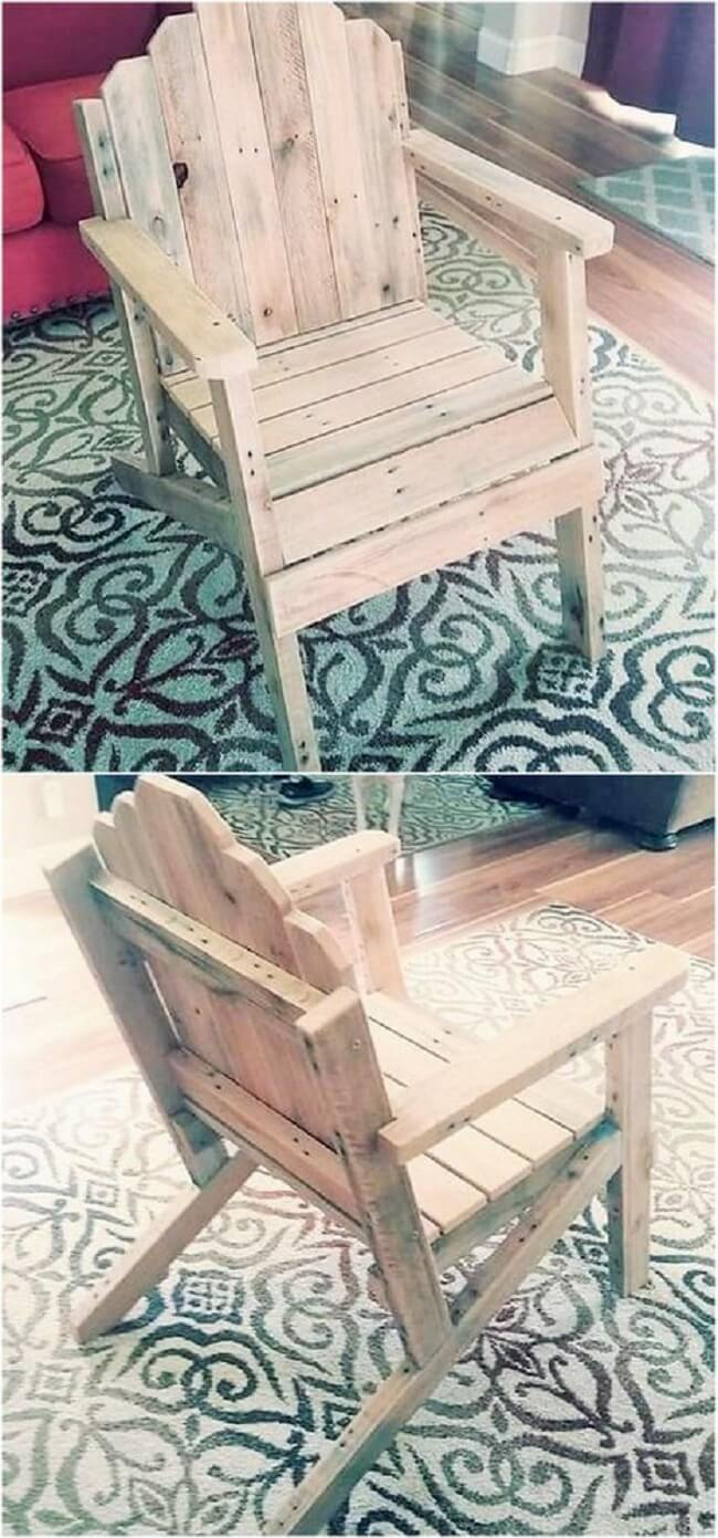 diy wooden pallet chair project-34