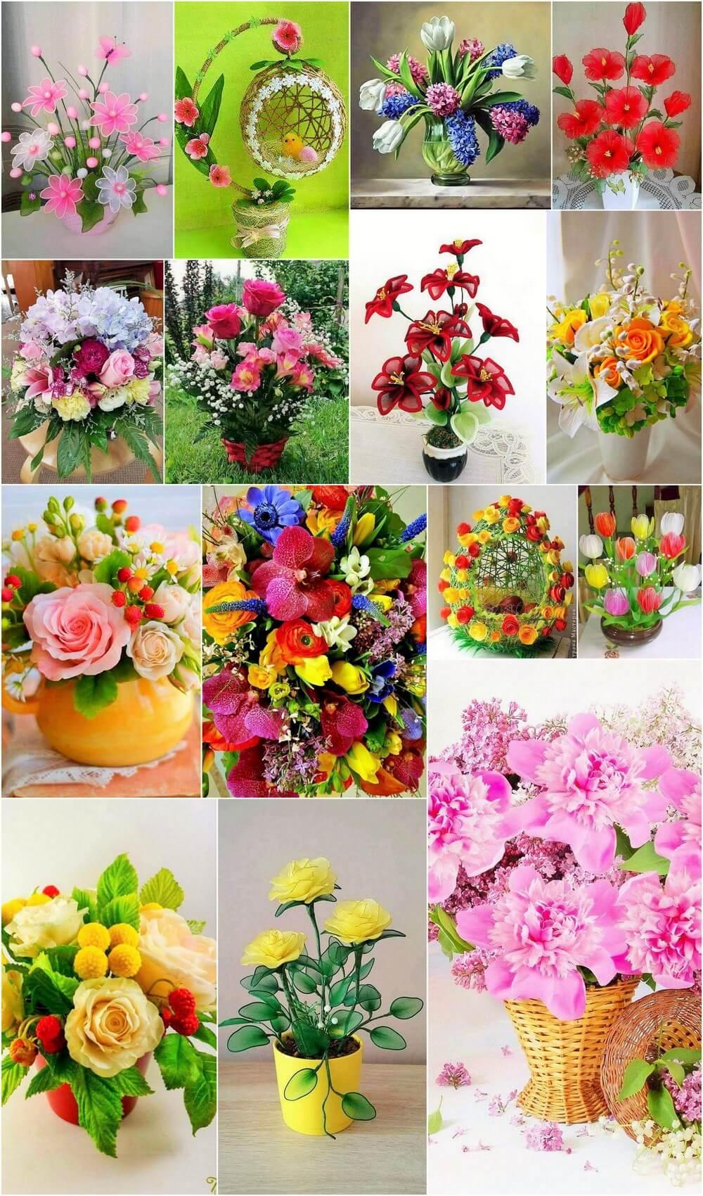 homemade flower ideas