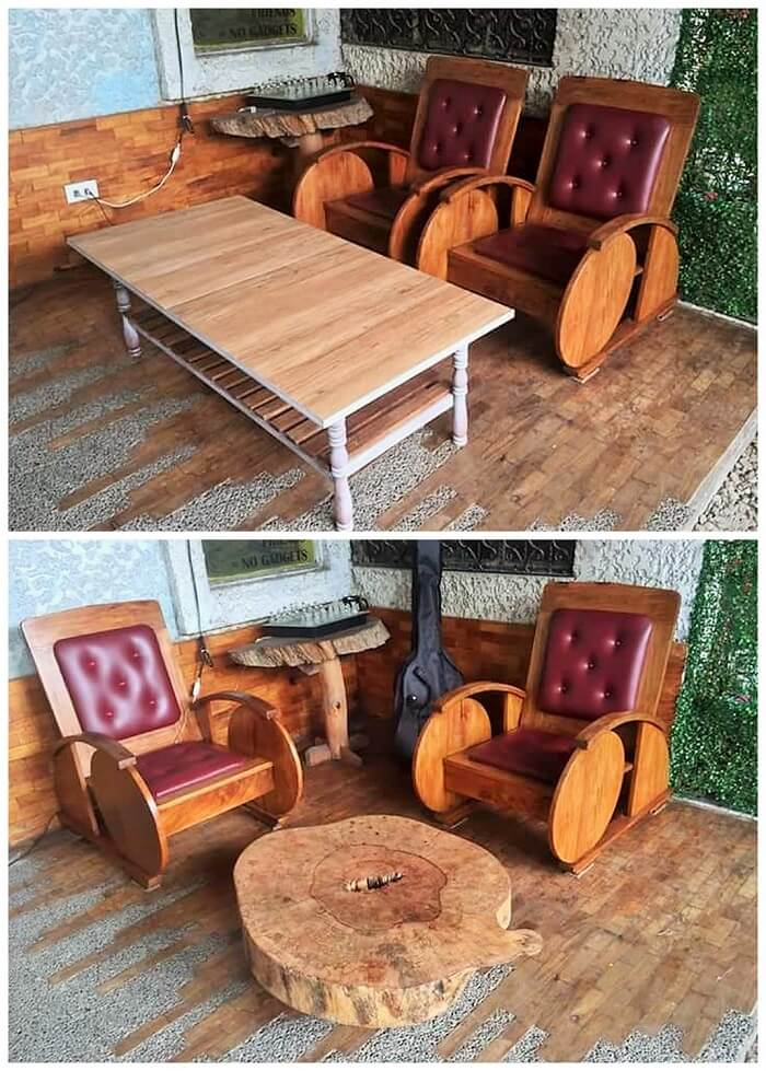 pallet sofa and coofee table