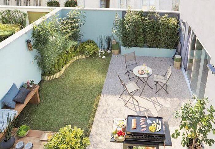 small garden and lon