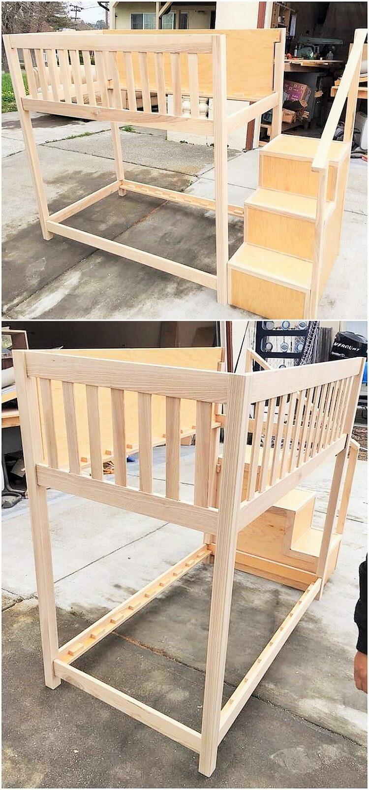wooden chaild bed