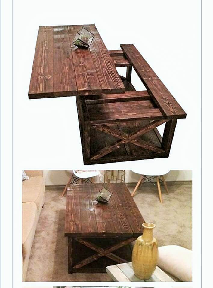 wooden coofee table