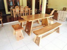 wooden dining stting AdleyInterior