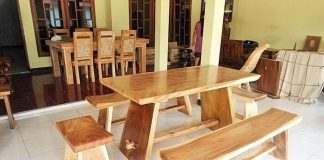 wooden dining stting AdleyInterior‎
