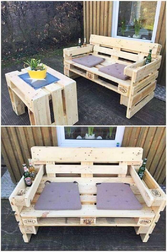 wooden pallet bear sofa