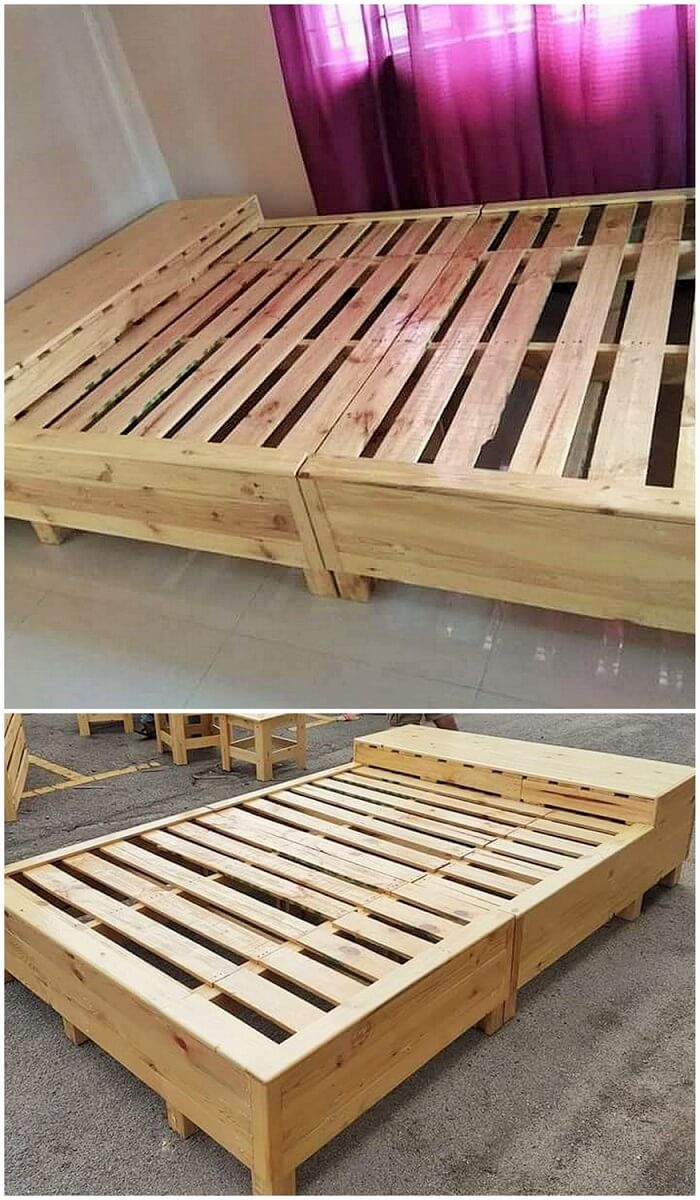 wooden pallet diy bed