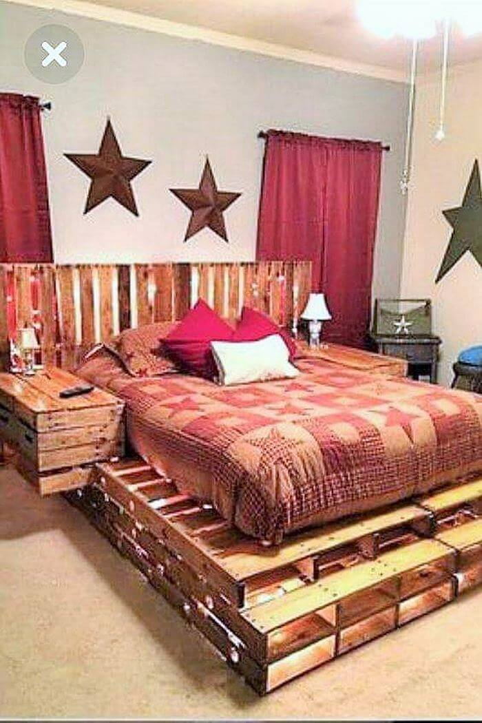 wooden pallet fome bed