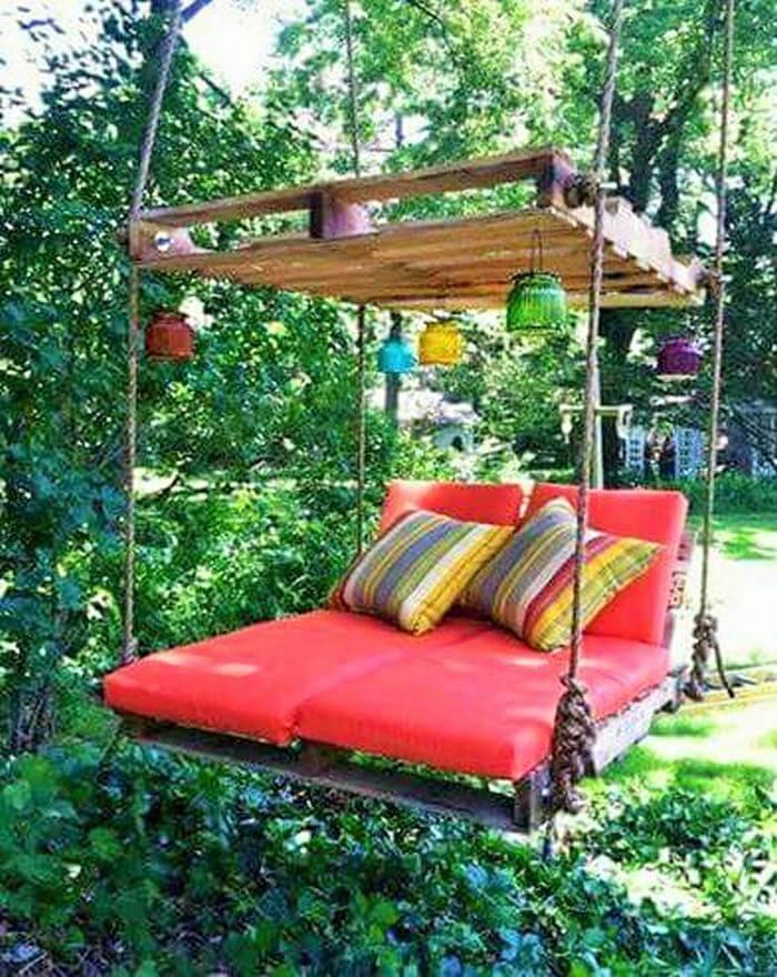 wooden pallet garden seting chair
