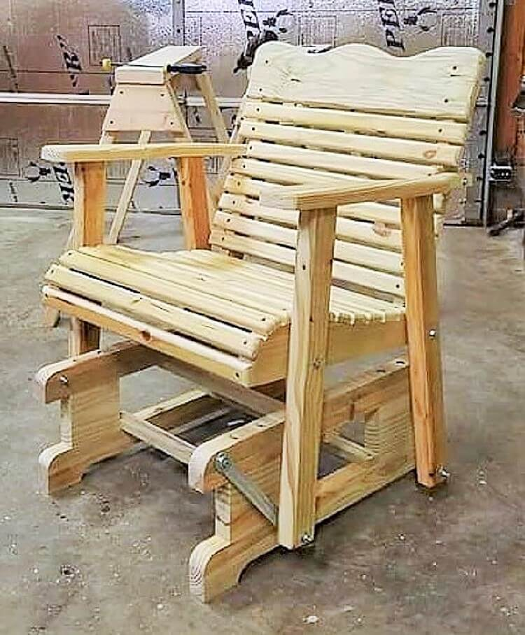 wooden pallet removeable chair