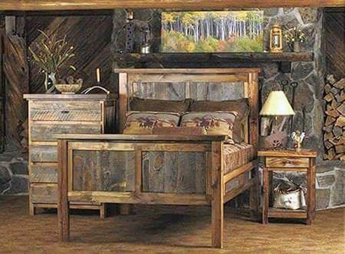 wooden pallet room set