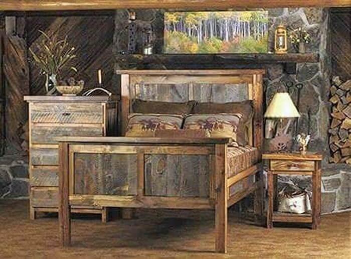wooden pallet room set