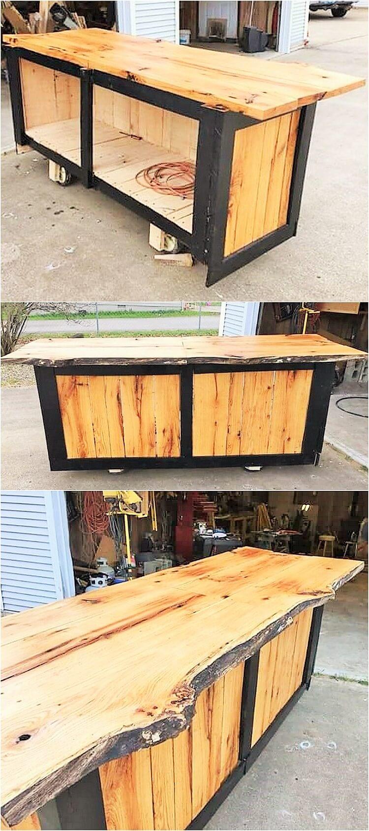 wooden pallets chain banch