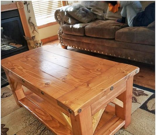 wooden small coffee table