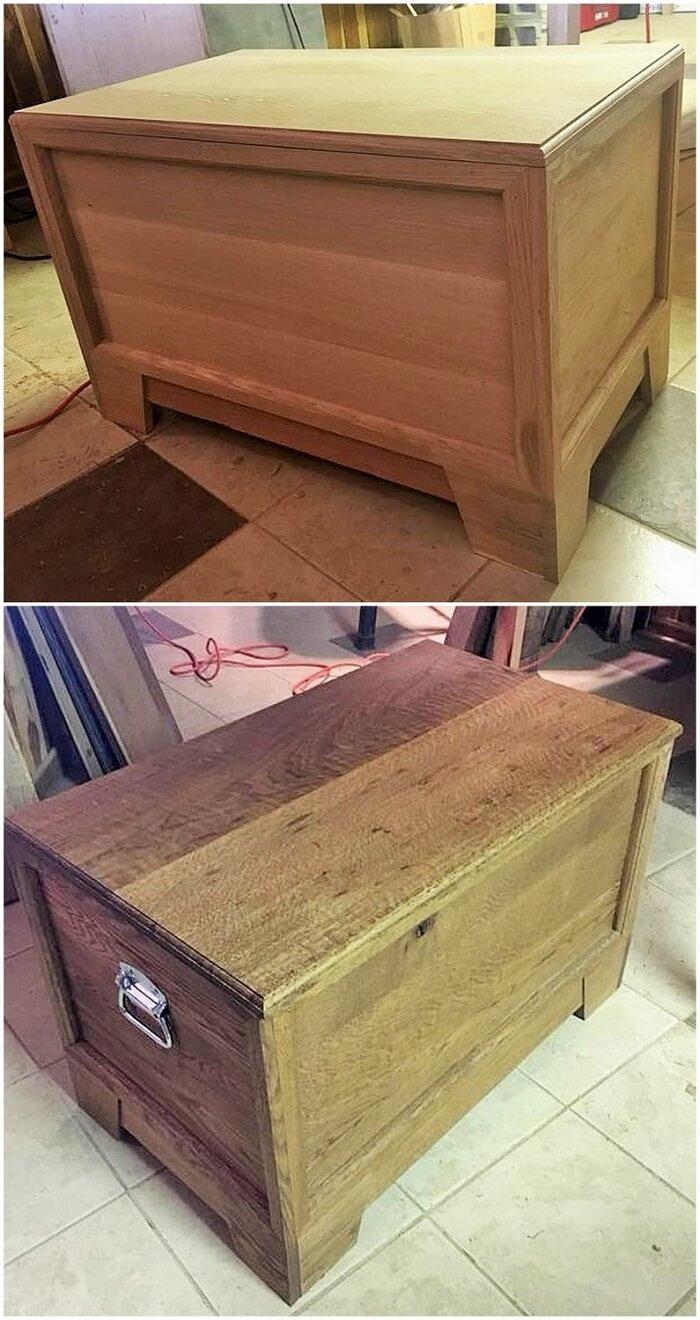 wooden tool box
